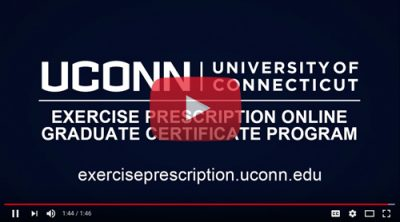 exercise prescription online graduate certificate